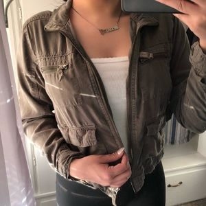 Cute cropped military jacket